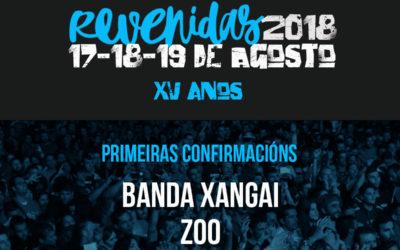Zoo, Steve 'n' Seagulls e Banda Xangai, primeiras confirmacións do Revenidas
