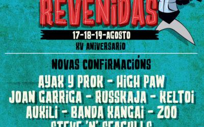 Russkaja, Auxili, Ayax y Prok, High Paw, Joan Garriga e Keltoi! súmanse ao cartel do Revenidas