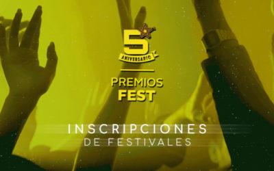 Aberto o prazo de inscricións da V edición dosPremios Fest, único recoñecemento da nosa industria dedicado aos festivais musicais en España.