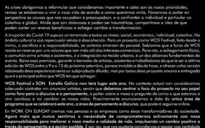Comunicado WOS Festival x SON Estrella Galicia