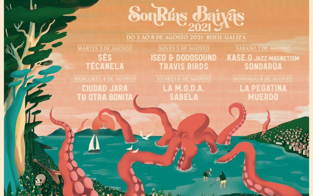 SonRías Baixas 2021 activa mañana, lunes 24, la venta de entradas para el ciclo de conciertos que se celebrará del 3 al 8 de agosto en Bueu